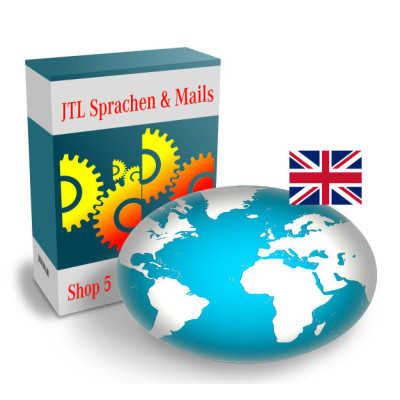 """Sprache """"Englisch"""" für JTL-Shop 5.x"""